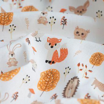 Tissu coton bio forêt