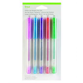 Cricut Explore / Maker 5 stylos gel pailletés rose - bleu - violet - orange -vert