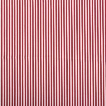 Tissu coton rayure fine rouge