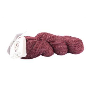 Fil à tricoter laine et lin rouge bourgogne
