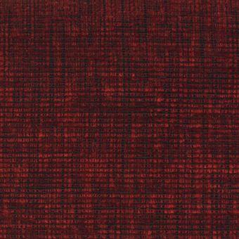 Tissu velours épais pour fauteuil Cassel rouge