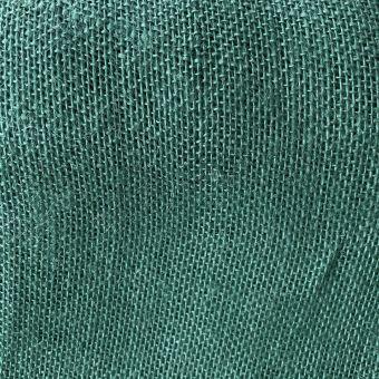 Toile de jute colorée unie vert
