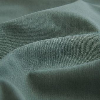 Tissu sergé de coton Serena vert kaki