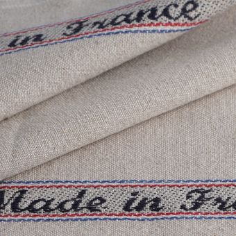 Tissu pour torchon Made in France lin