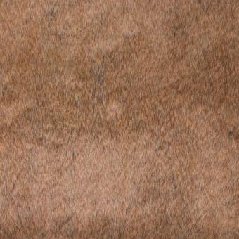 Tissu fausse fourrure marrons à poils courts