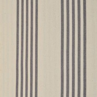 Tissu toile coton tissé-teint double enduction acrylique Cabana rayures grises