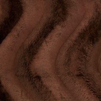 Tissu velboa uni marron