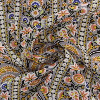 Tissu Liberty soie crêpe fleurs
