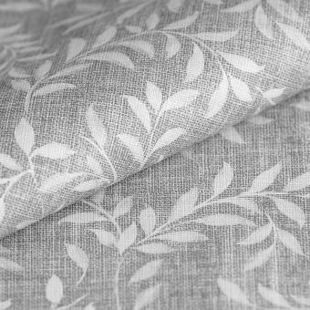 Toile cirée grise petites feuilles