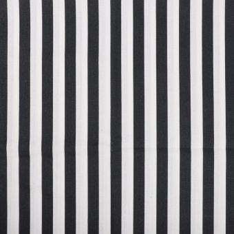 Tissu coton rayure noir