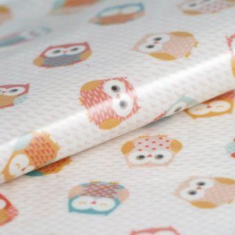 Tissu enduit PVC mini chouettes