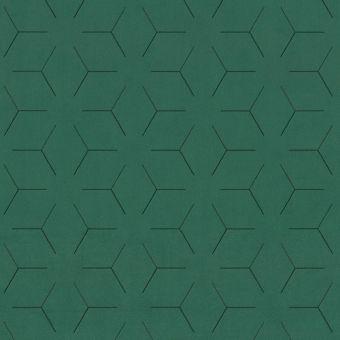 Tissu velours traits géométrique vert