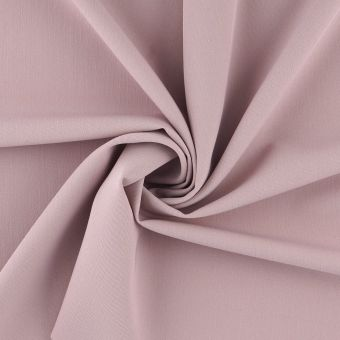 Tissu gabardine polyester recyclé vieux rose