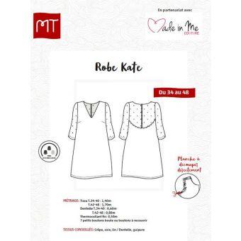 Patron robe bi matière Kate