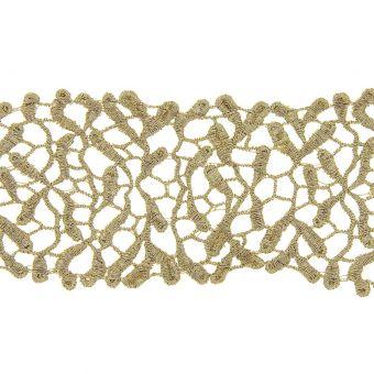 Ruban dentelle métallisée or 69mm