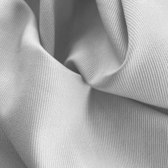 Tissu piqué de coton uni gris