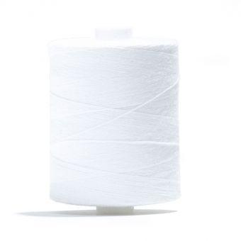 Bobine de fil à batir 100 % coton Blanc