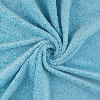 Tissu éponge bambou doudou turquoise