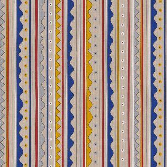 Tissu bachette effet lin motifs éthniques