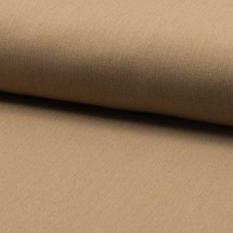 Tissu lainage fin extensible uni camel