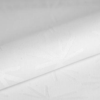 Tissu damassé Spot blanc déperlant
