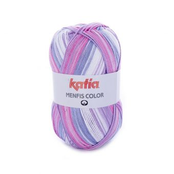 Fil à tricoter Katia Menfis Color violet lilas