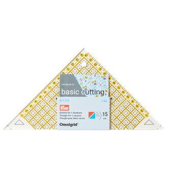 Triangle patchwork, pour carrés-triangles ½