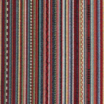 Tissu jacquard rayures multicolores