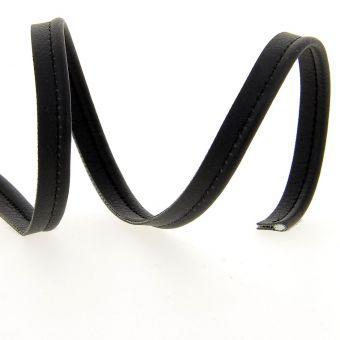 Passepoil simili cuir noir 10 mm