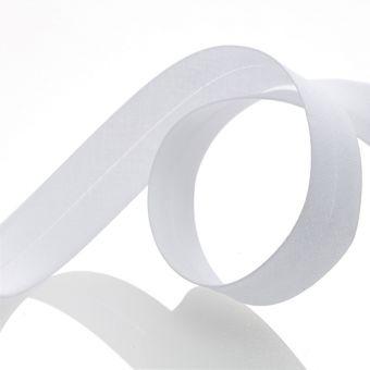 Biais tous textiles - Blanc 20 mm