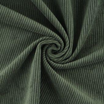Tissu velours côtelé First vert kaki