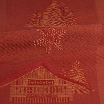 Tissu coton piqué Megève rouge grande largeur