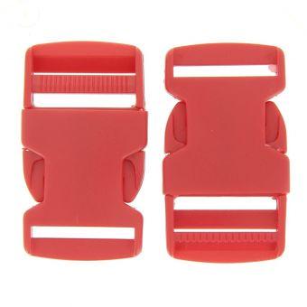 Boucles à ouverture rapide rouges en plastique 30 mm