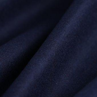 Tissu drap de laine viscose uni bleu marine