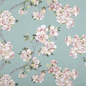 Tissu coton enduit imprimé cerisier du Japon