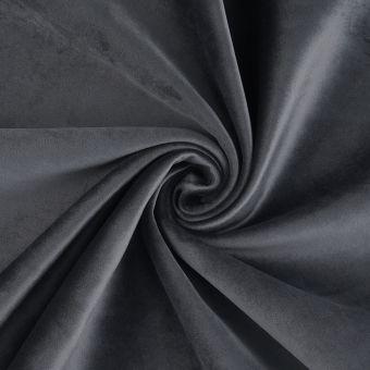 Tissu velours thermique Murano gris anthracite