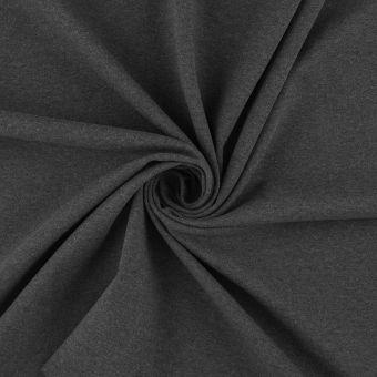 Tissu jersey bio et recyclé gris foncé