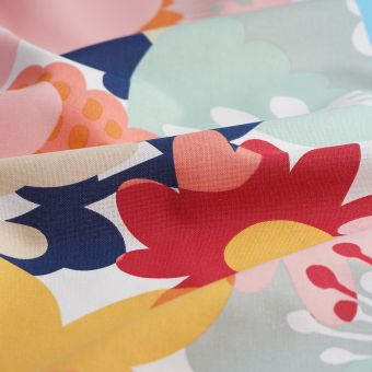 Tissu coton épais flower power