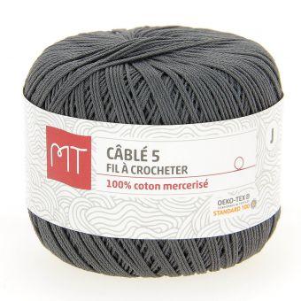 Fil à crocheter n°5 gris moyen