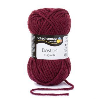 Fil à tricoter Boston rouge bordeaux