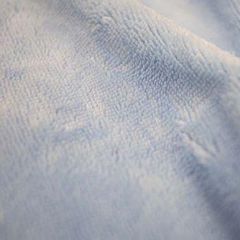 Tissu éponge bambou doudou bleu ciel