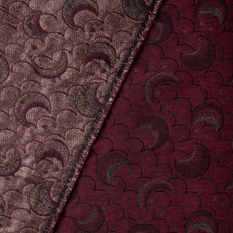 Tissu jacquard Walkie Talkie motif moon ruby