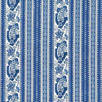 Tissu provençal percale bandes Bonis bleu