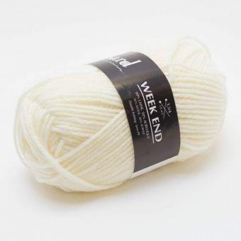 Pelote de fil à tricoter week-end écru - Plassard