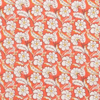 Tissu popeline de coton liberty chester row orange