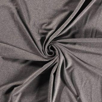 Tissu molleton sweat French Terry bio et recyclé gris foncé