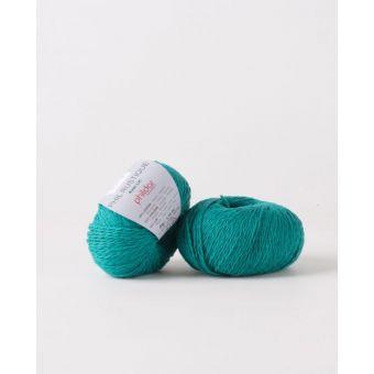 Pelote de coton à tricoter Phildar rustique émeraude