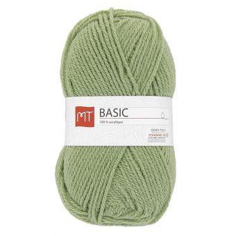 Pelote de fil à tricoter mt basic vert amande