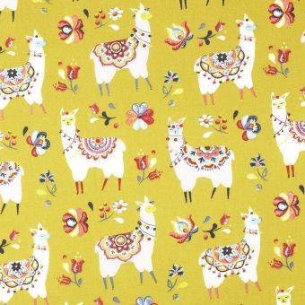 Tissu de Noël coton lama