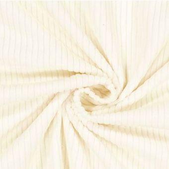 Tissu velours côtelé recyclé blanc - Albstoffe